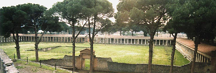 ruins of the palaestra at Pompeii - Greek Palaestra