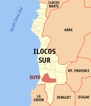 Mapa na Ilocos ed Abalaten ya nanengneng so location na Suyo
