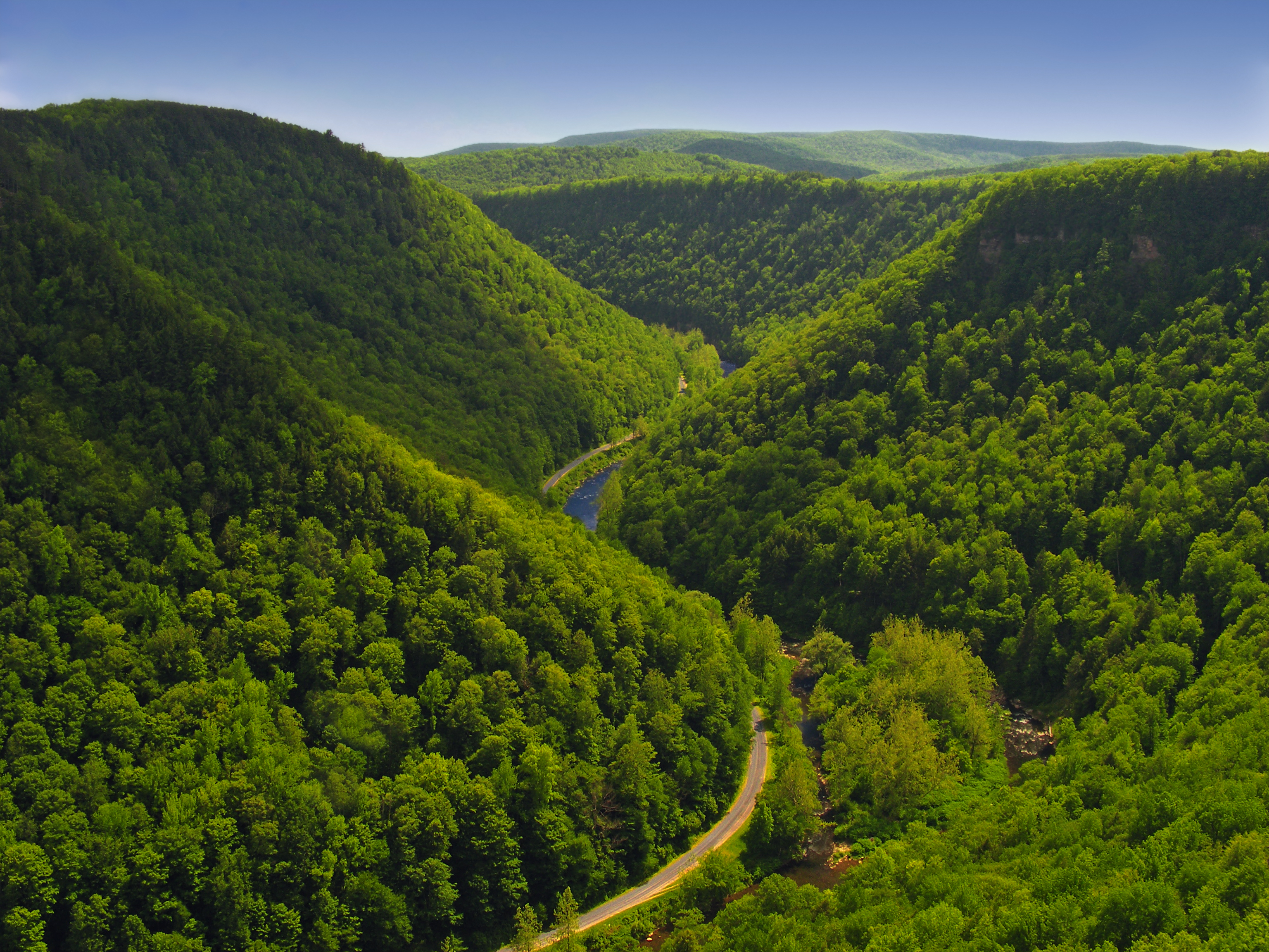 File Pine Creek Gorge Tioga County As Seen From The West