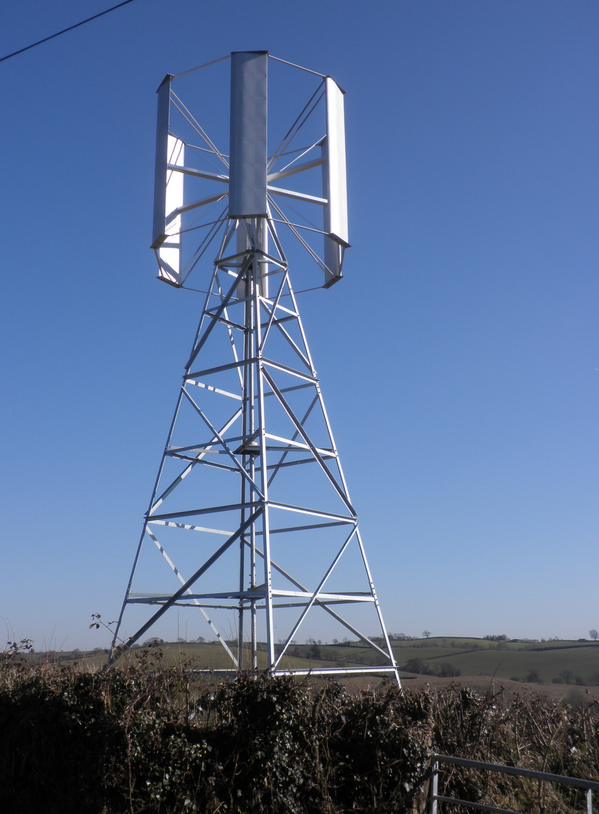 File:Private wind-turbine, near Eastington - geograph org uk