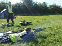Air rifle training at the BNP's 2008 youth camp