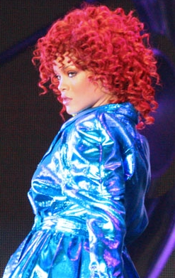 Rihanna performing at the Target Center during her Loud Tour, June 2011