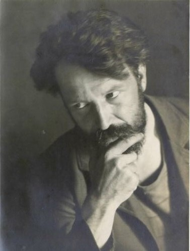 Photo of Rihard Jakopič by Avgust Berthold (before 1919)