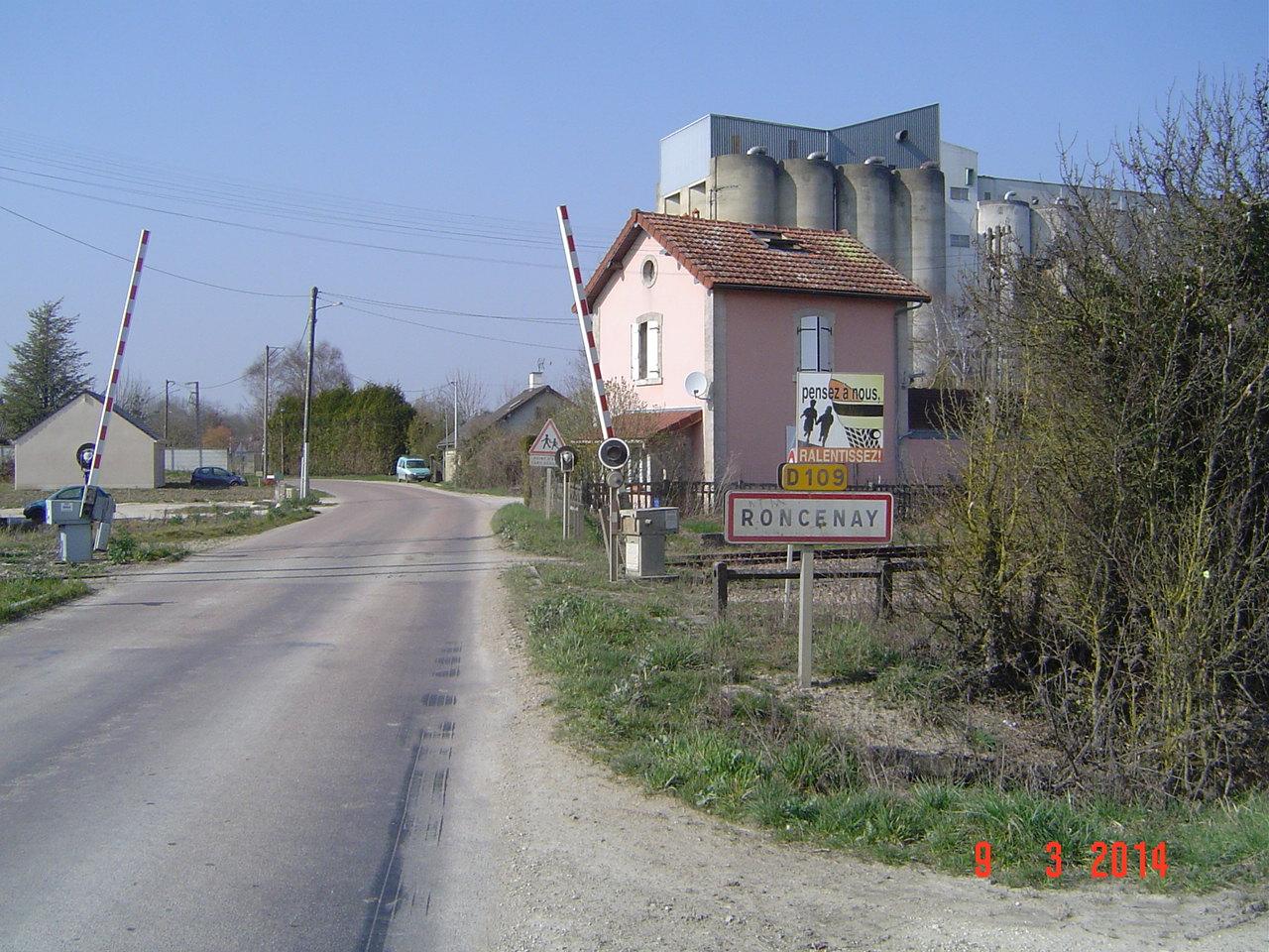 Entrée du bourg par la RD 109.