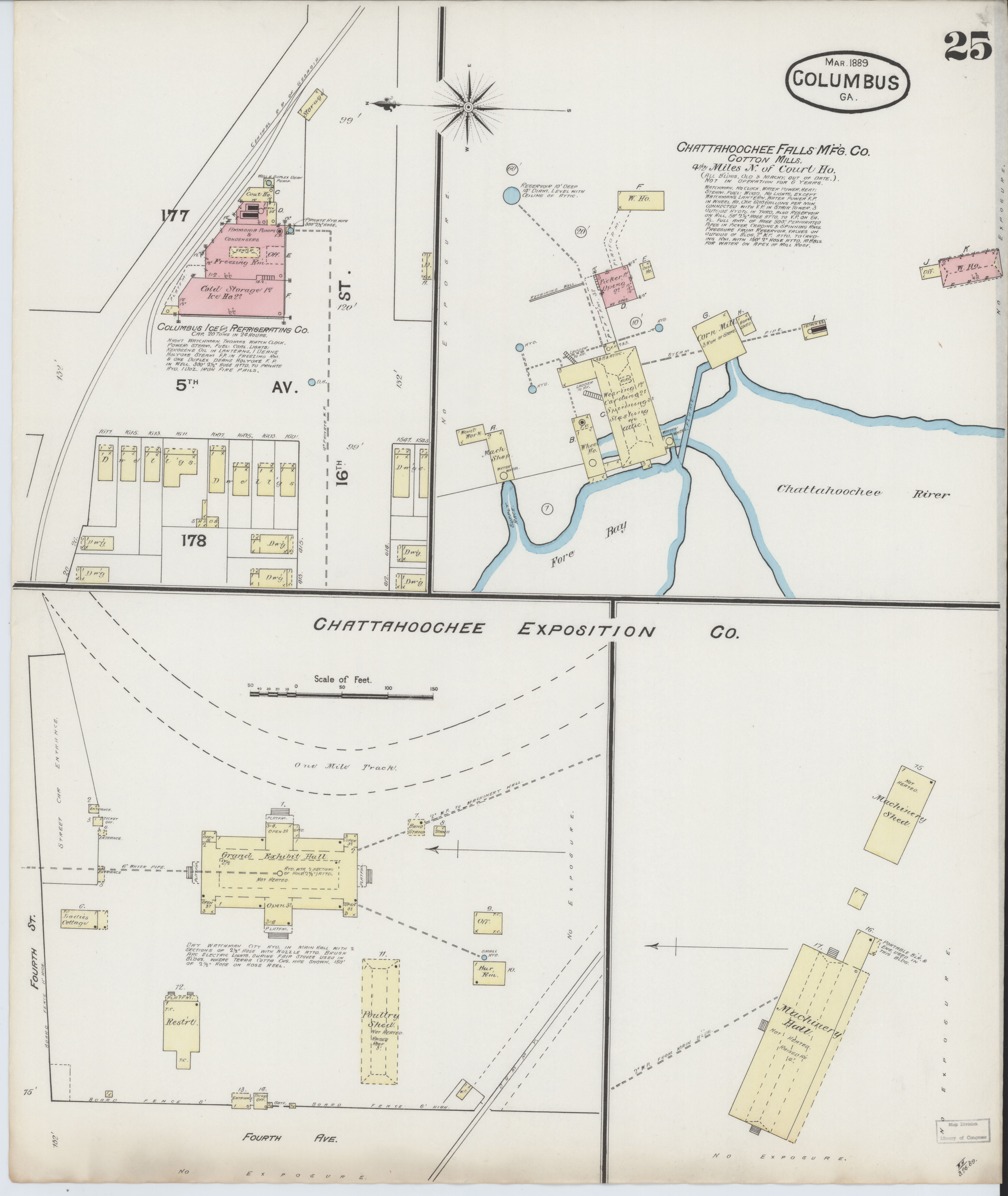 Map Of Georgia Fire.File Sanborn Fire Insurance Map From Columbus Muscogee County