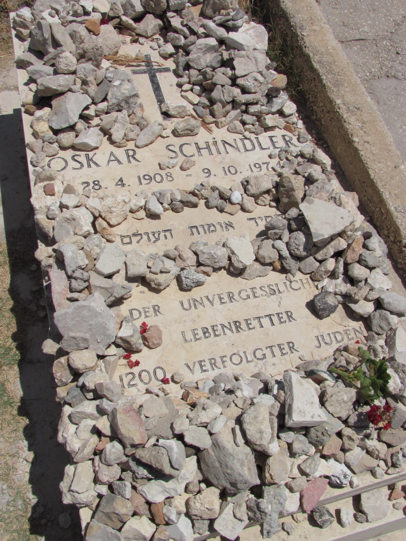 La tumba de Oscar Schindler en Jerusalén
