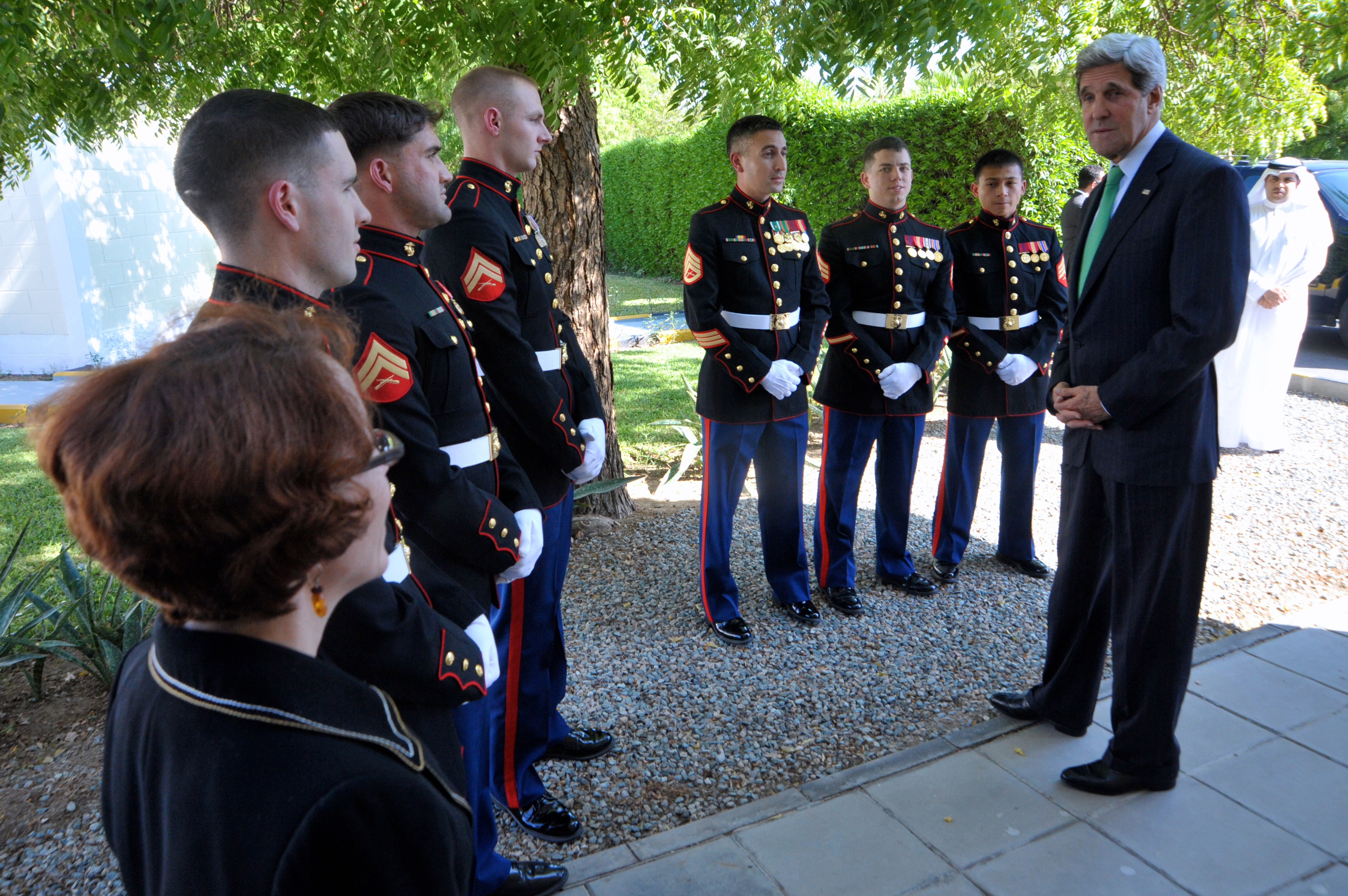 File:Secretary Kerry Thanks Consul General Casper and Marine ...