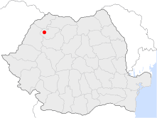 Location of Şimleu Silvaniei