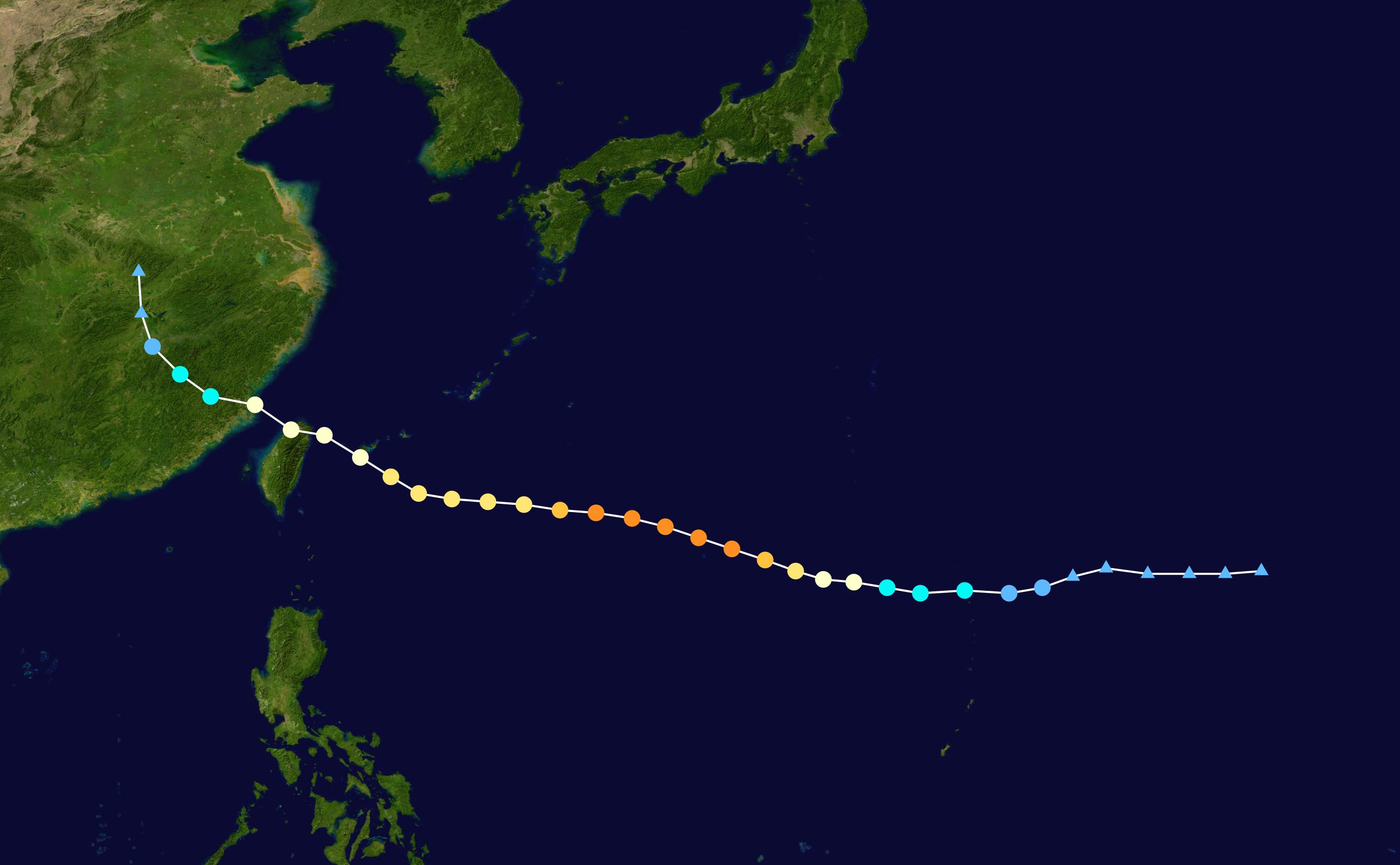 ASA公布一张苏力台风卫星影像图片
