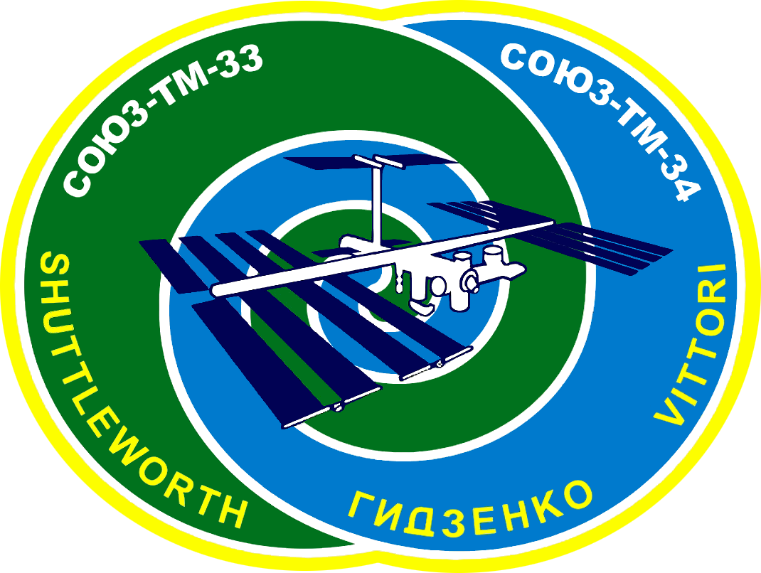 Animation assemblage ISS Soyuz_TM-34_logo