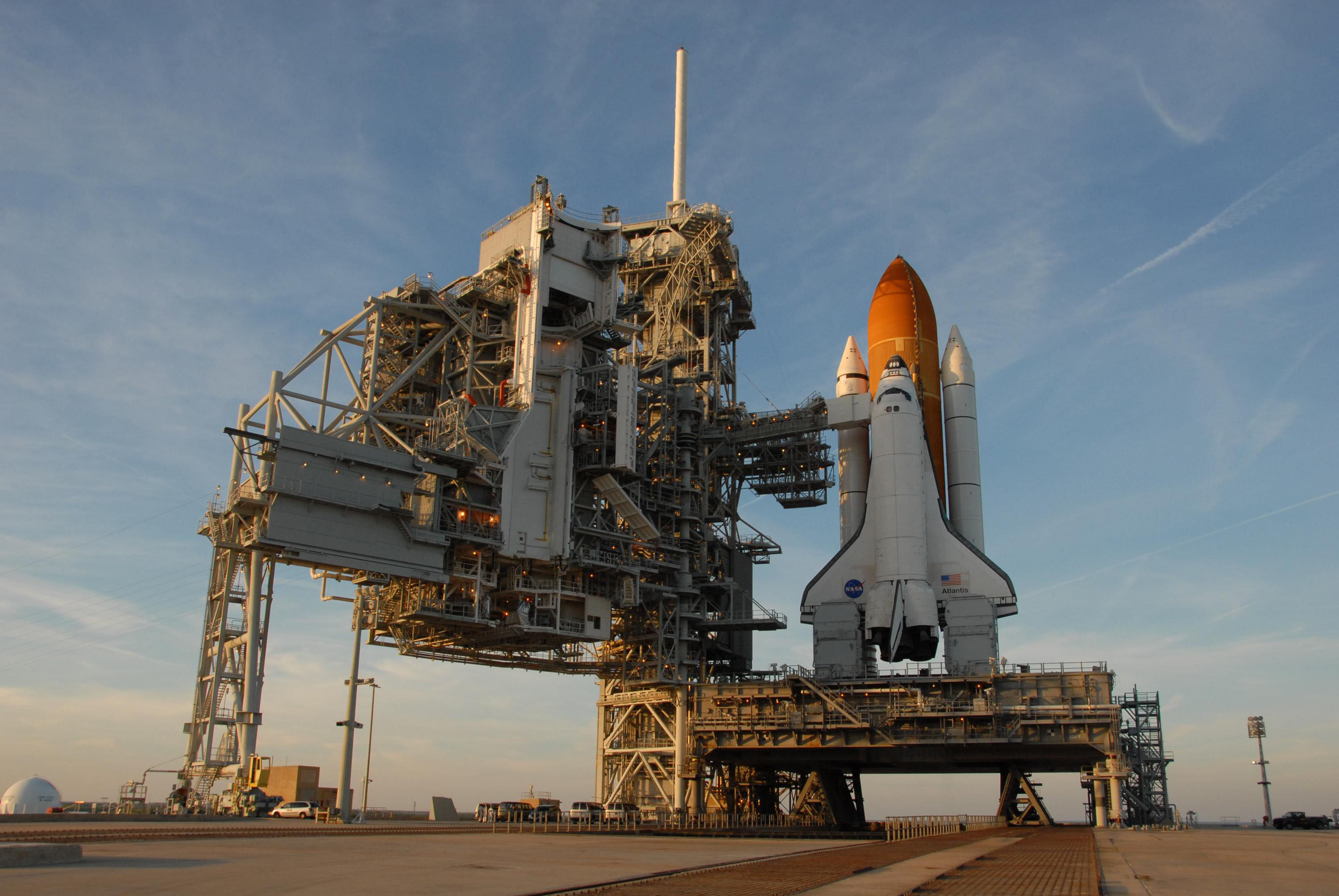 space shuttle on launchpad - photo #2