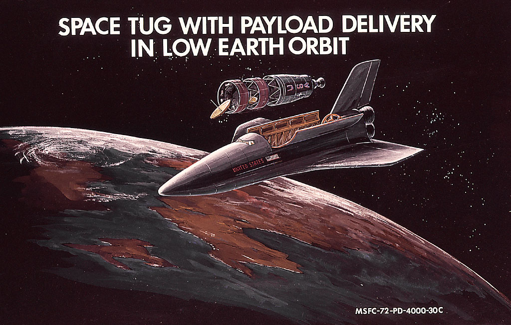 File:Space Shuttle delivers payload and space tug in low ...