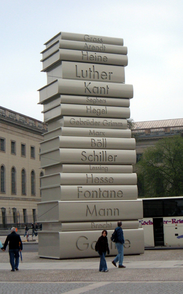 Stack of books in Babelplatz