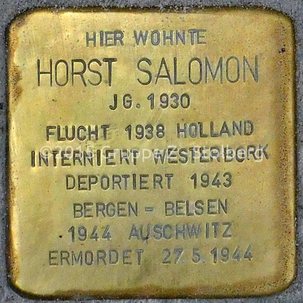 Datei:Stolperstein Salomon Horst Stolberg.jpg – Wikipedia