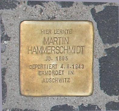 Photo of Martin Hammerschmidt brass plaque