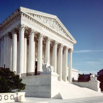A photo of the US Supreme Court building in Washington, DC.