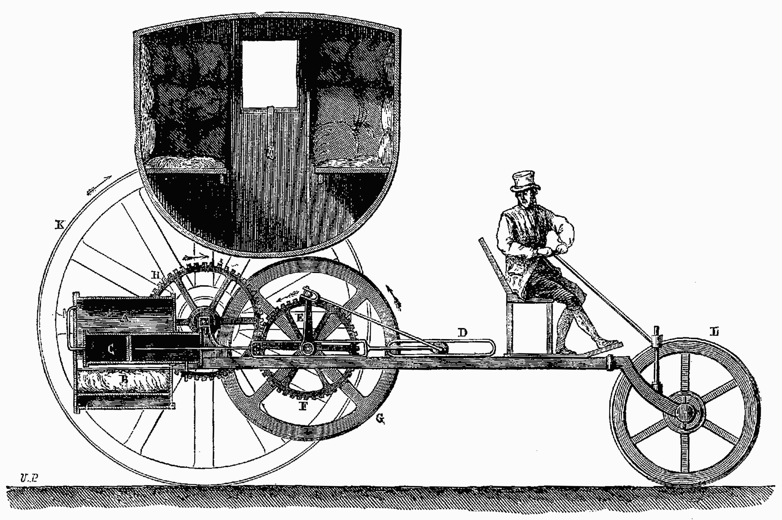 file t1 d274 fig 124 voiture vapeur par trevithick et wikimedia commons. Black Bedroom Furniture Sets. Home Design Ideas