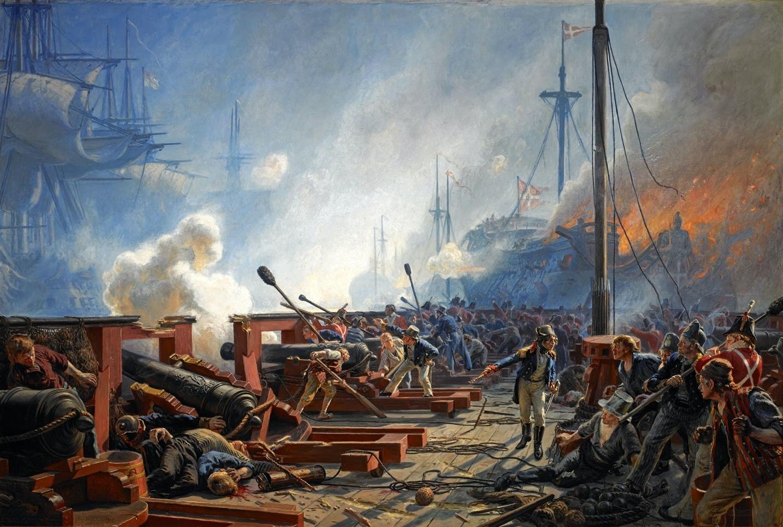 The_Battle_of_Copenhagen_1801_by_Christi