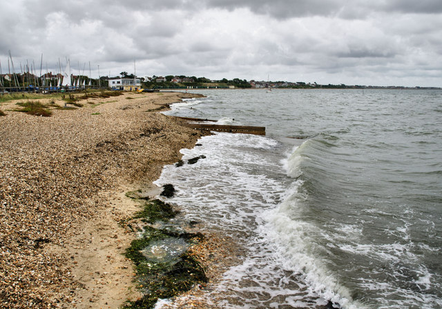 The beach at Titchfield Haven - geograph.org.uk - 1418098