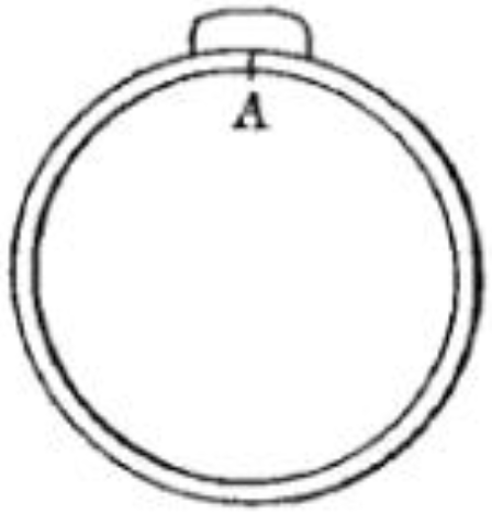 Tuyau découvert rue Gay-Lussac 3.png Français : Tentative de reconstitution (au XIXe siècle) d'un tuyau de plomb de l'aqueduc de Lutèce, à