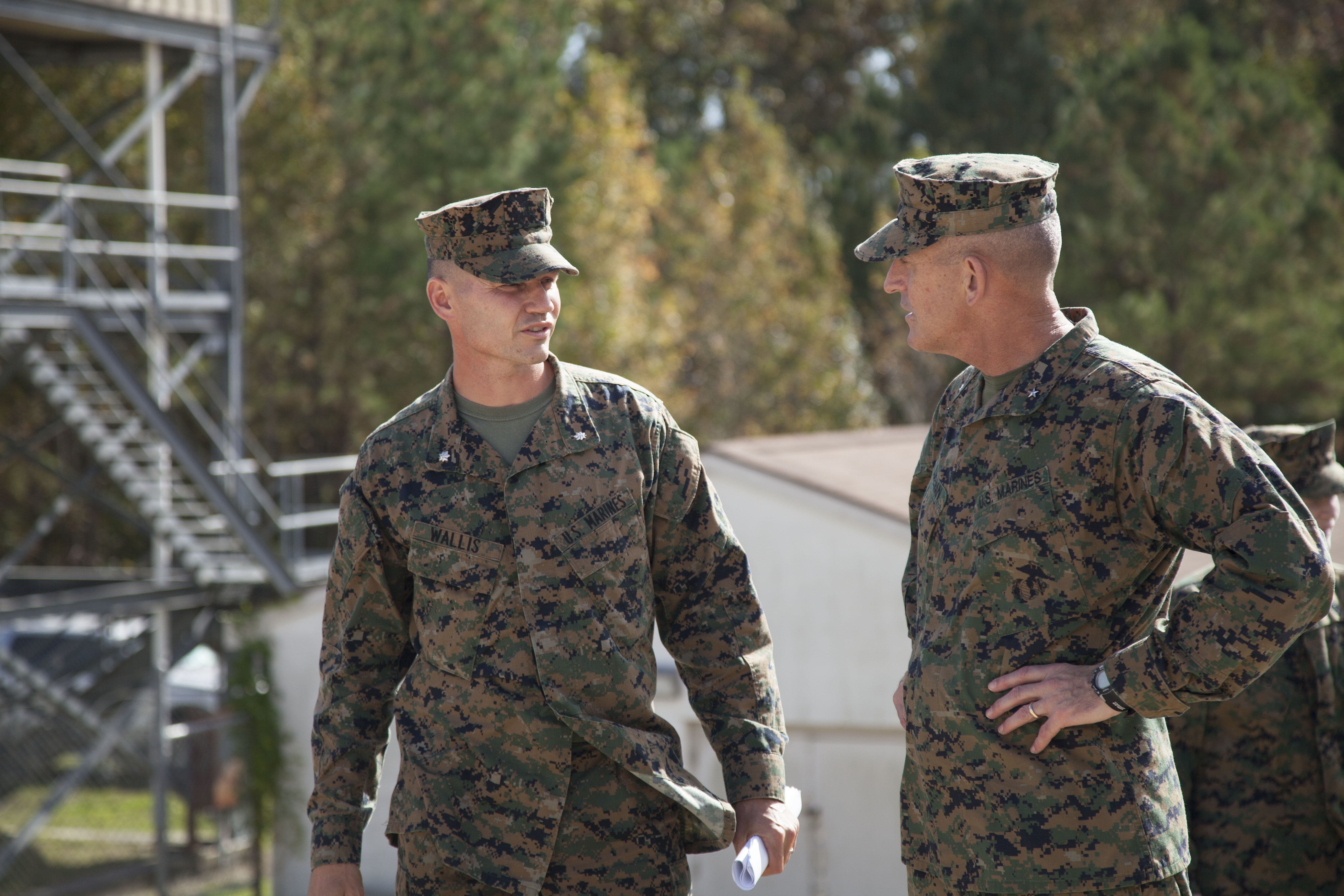 File:U.S. Marine Corps Lt. Col. David C. Wallis, commanding ...