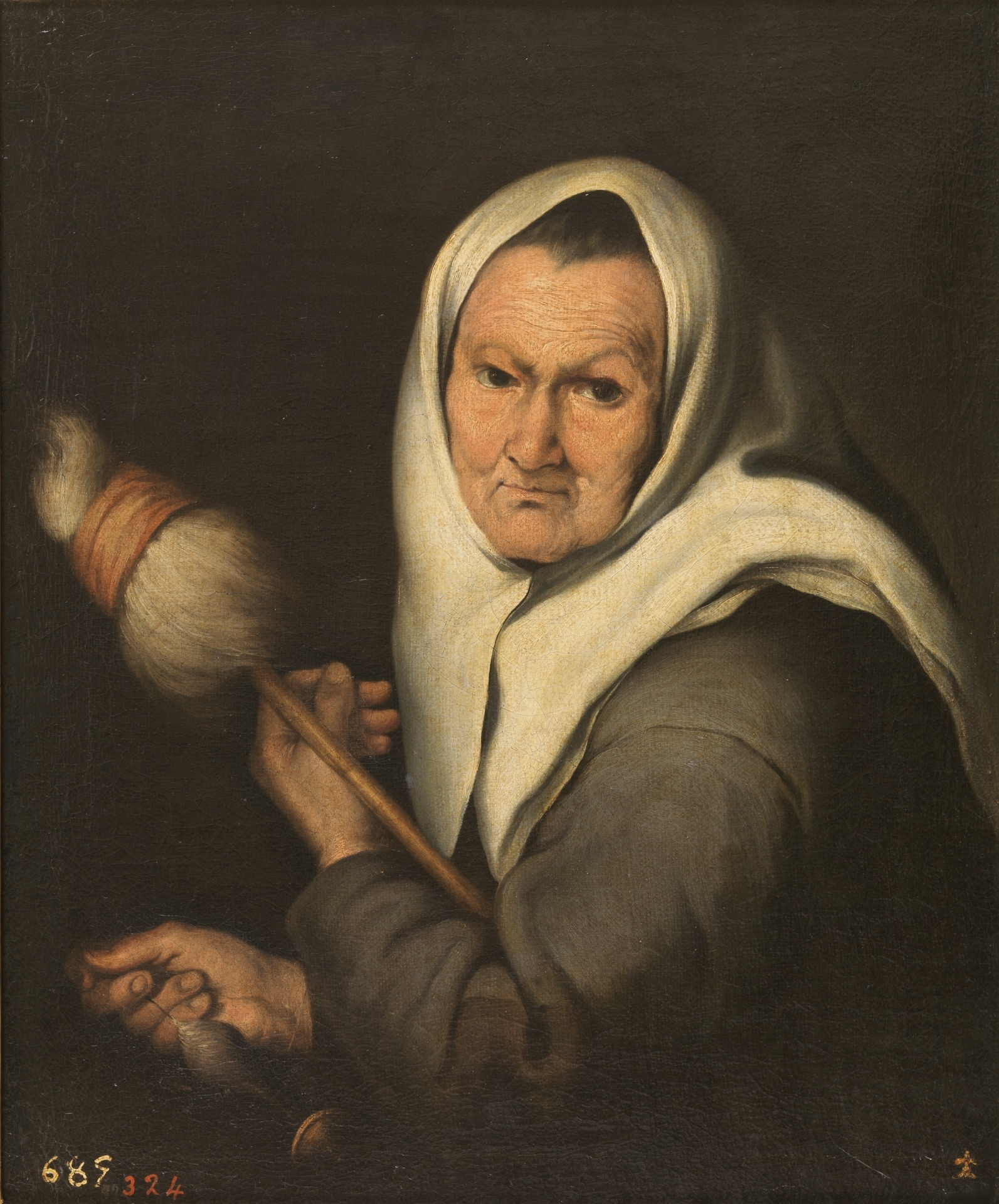 Old woman with a distaff 1642