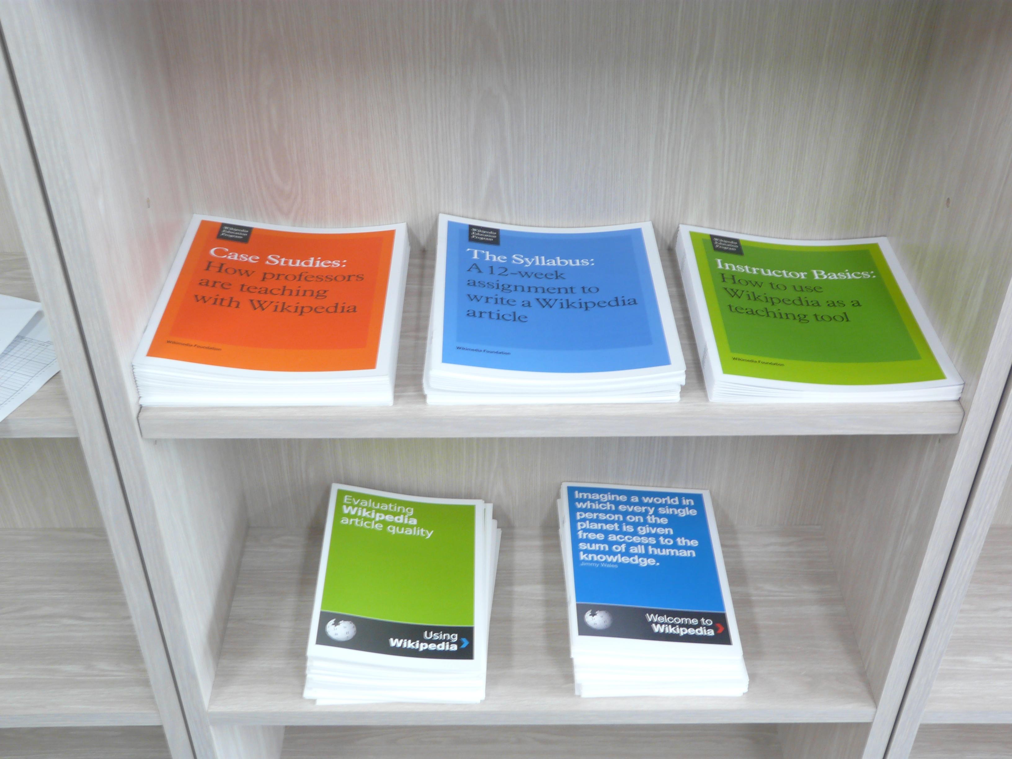 File:Wikimedia foundation wikipedia educational brochures.JPG ...