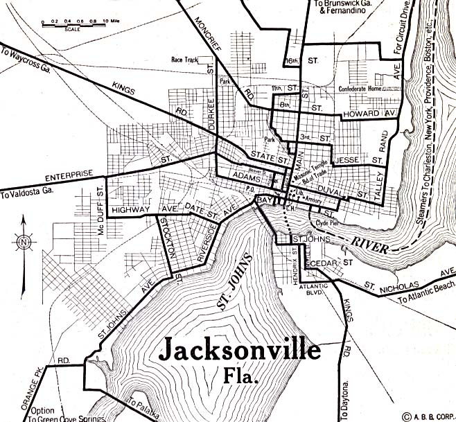 File 1920 Map Jacksonville Florida Automobile Blue Book Jpg