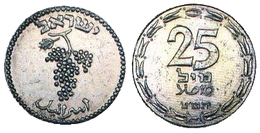 File:25 mil coin – the State of Israel's first coin.png