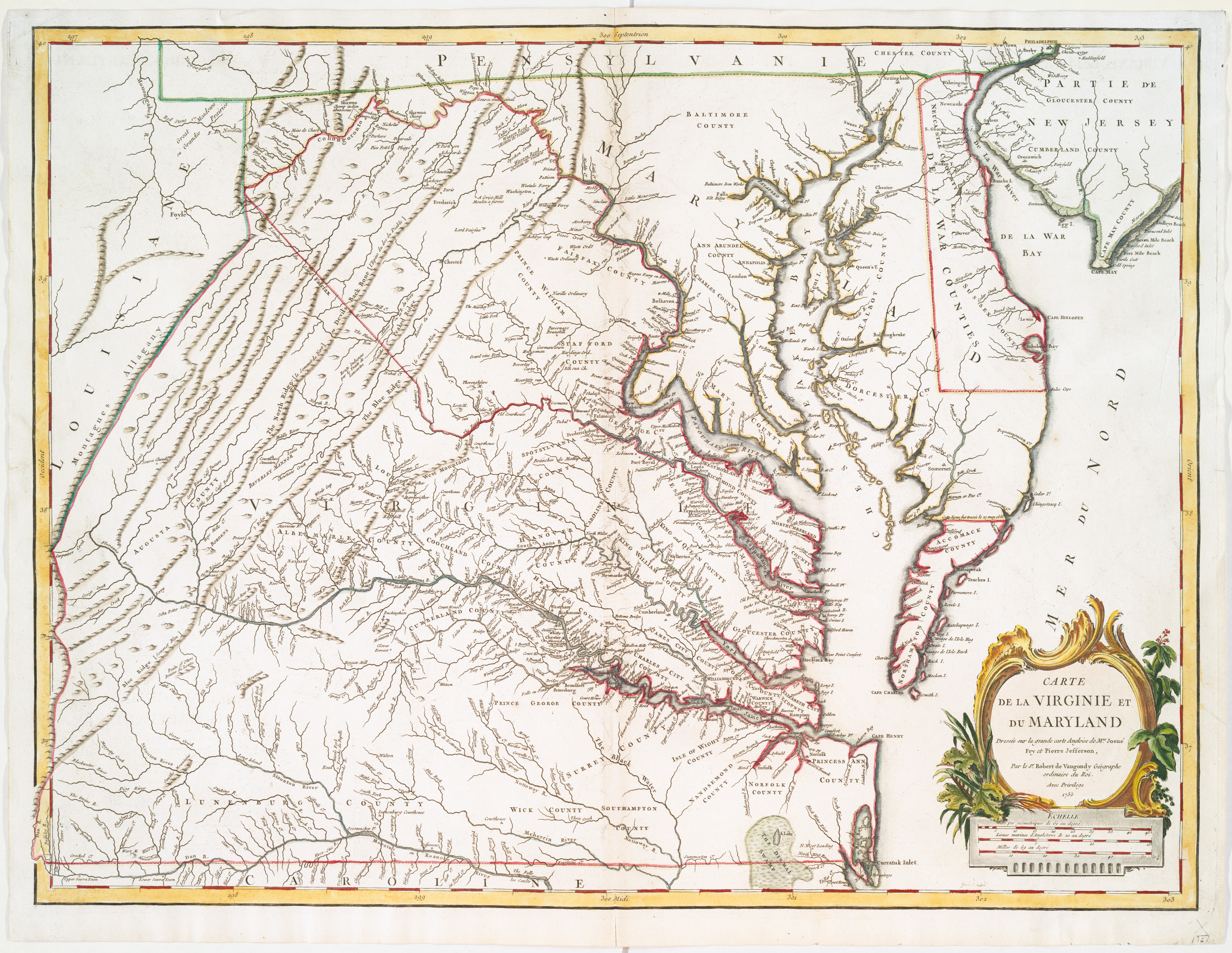 Filea map of the most inhabited part of virginia containing the filea map of the most inhabited part of virginia containing the whole province of sciox Gallery