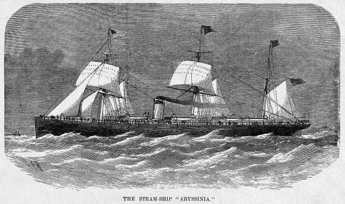 Cunard Ocean Liner RMS Abyssinia