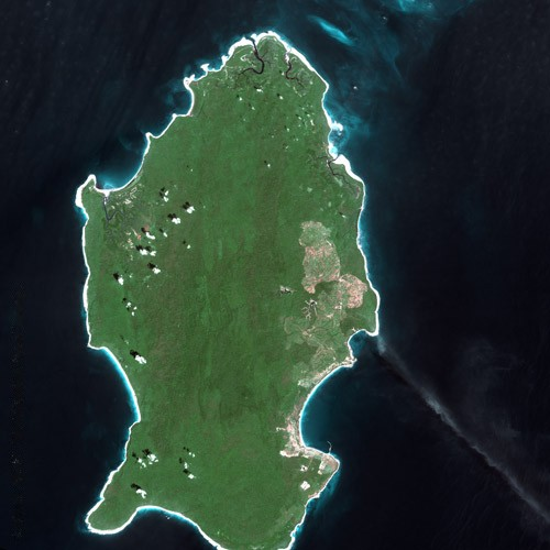Little Andaman Island seen by Spot satellite