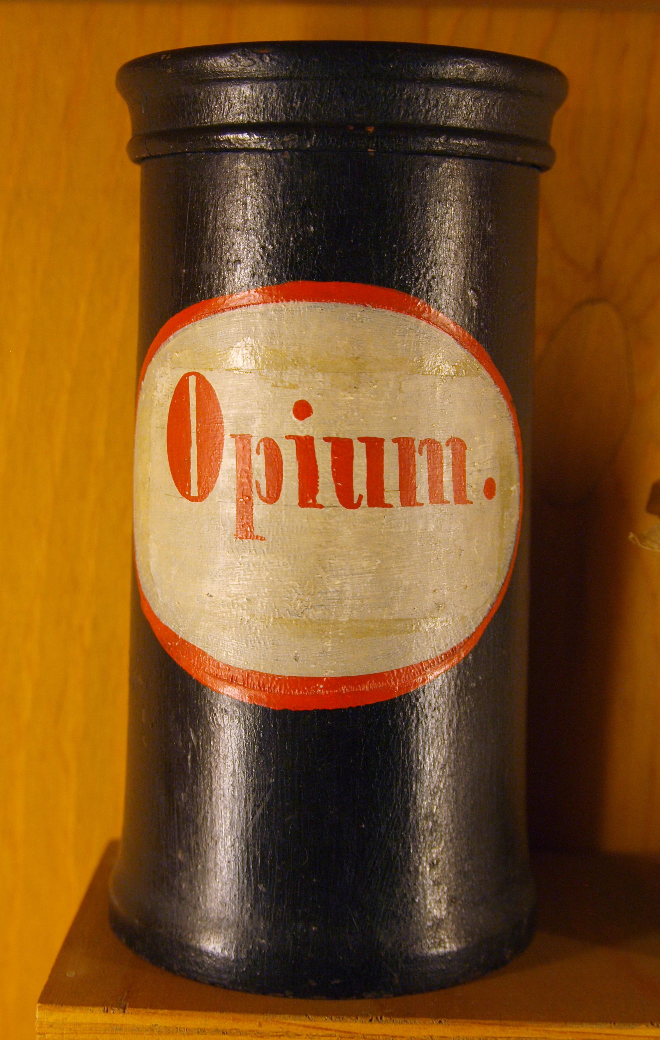 Description Apothecary vessel Opium 18-19 century jpgOpium Drug Use