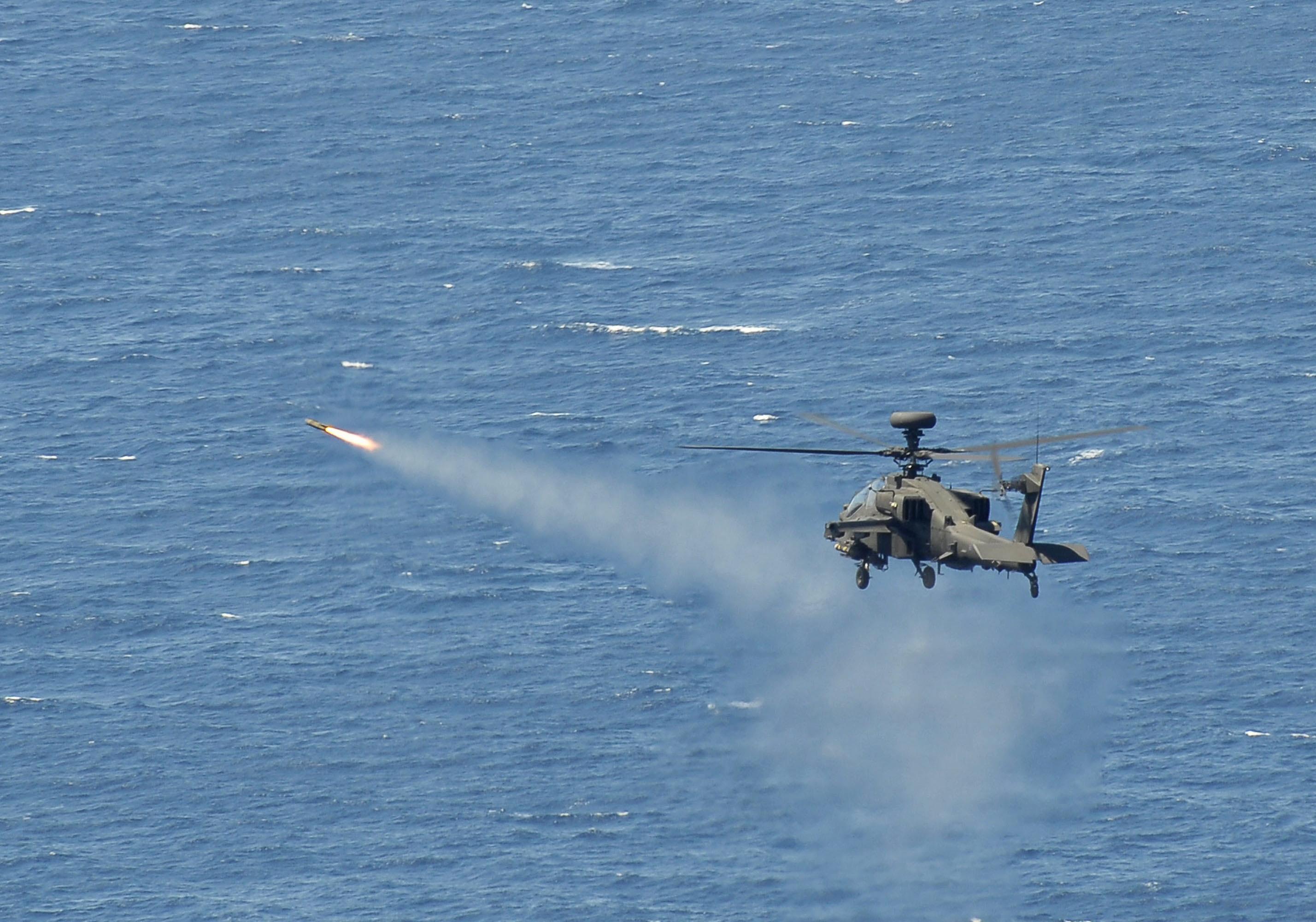 Apache Helicopter Firi...