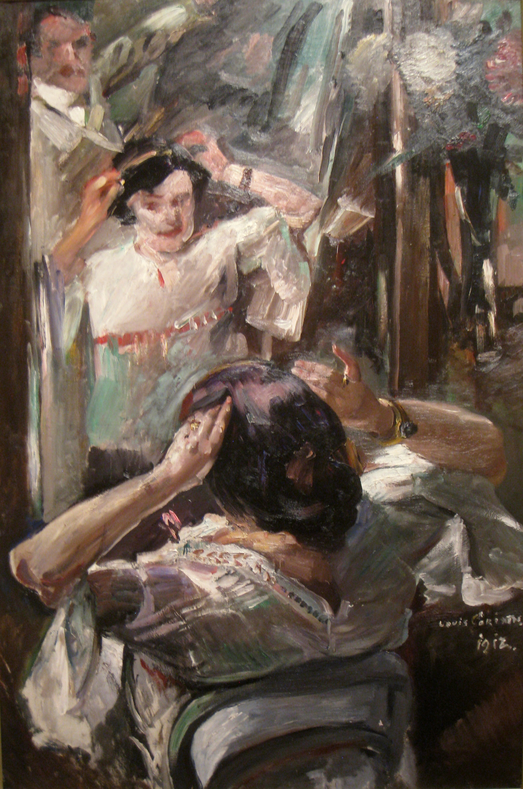 File At The Mirror By Lovis Corinth 1912 Worcester Art