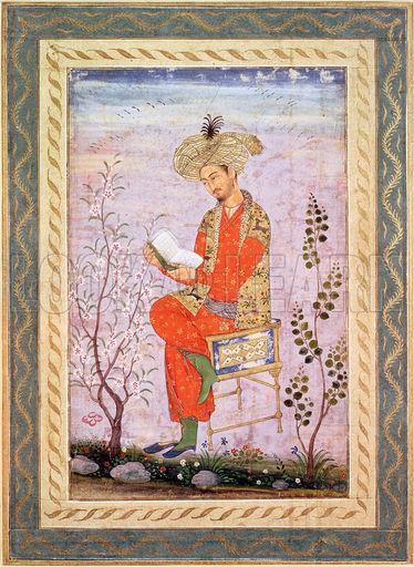 File:Babur (r.1526-30) Reading,.jpg