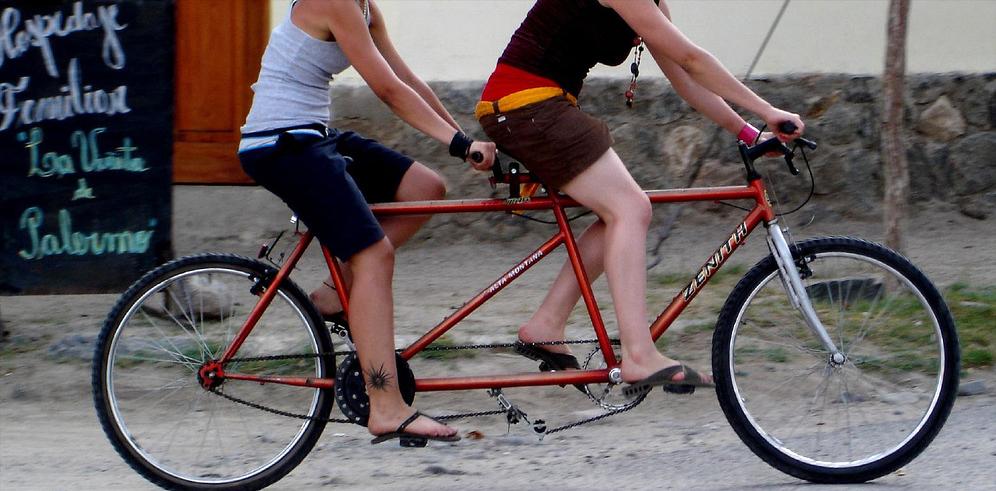 Велосипед тандем сделать