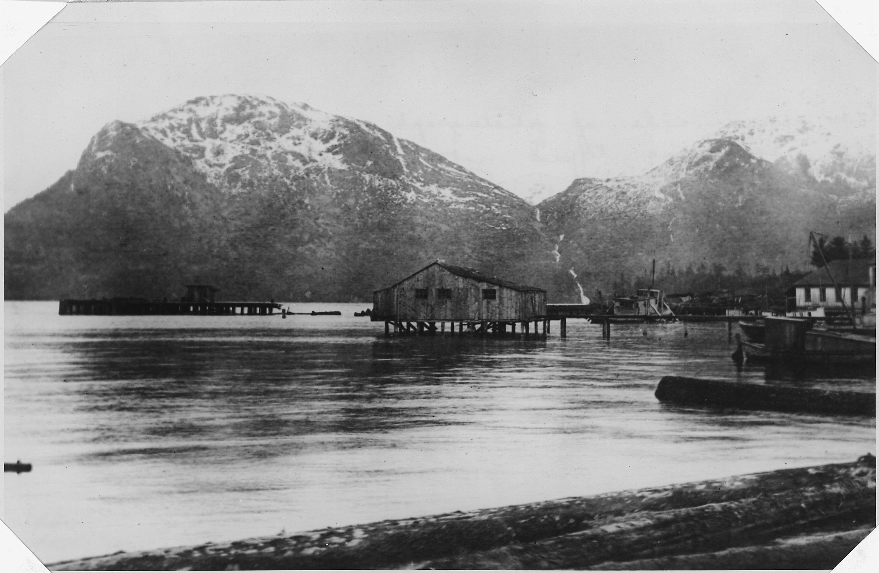 Boathouse And Mountains C Metlakatla Nara Reversed on Prince Of Wales Island Alaska Map