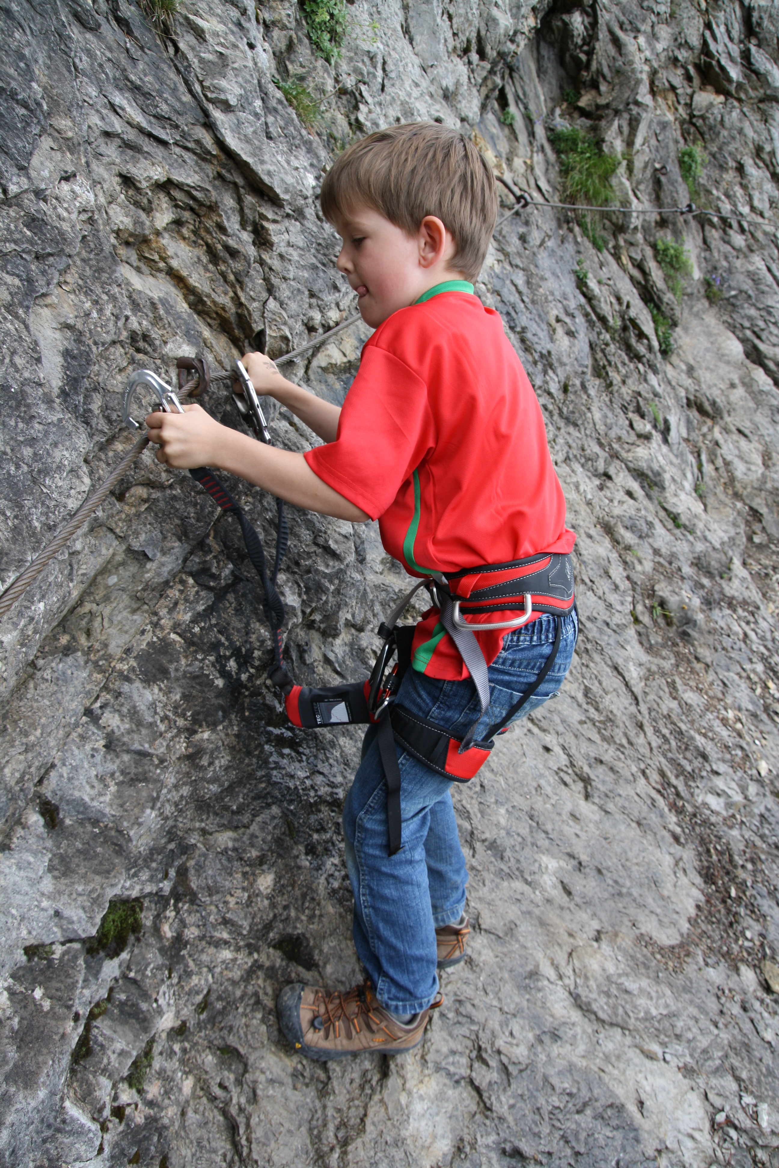 Boy_with_climbing_harness file boy with climbing harness jpg wikimedia commons