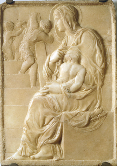 The Madonna of the Stairs (1490–92), Michelangelo's earliest known work in marble