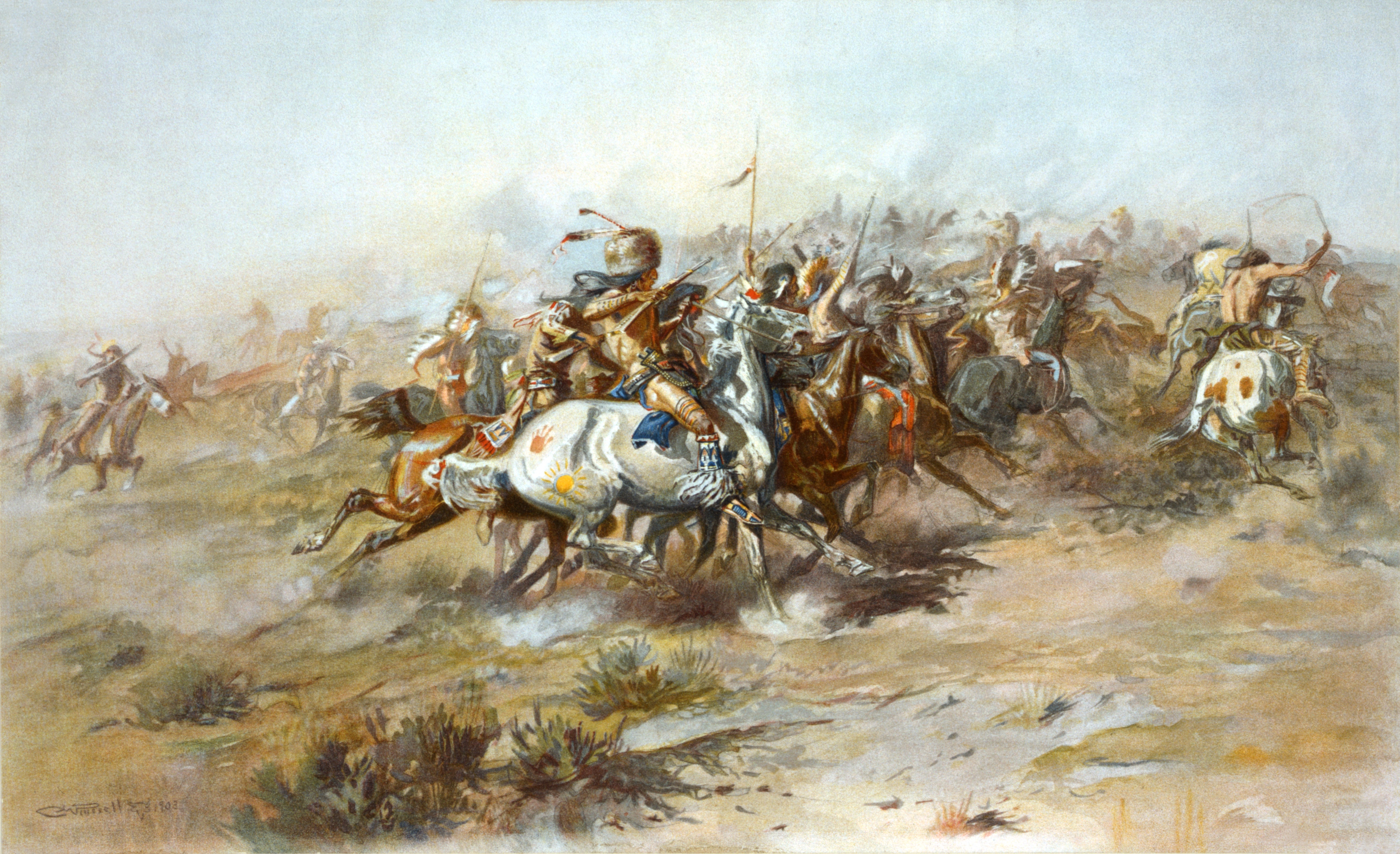 Description Charles Marion Russell - The Custer Fight (1903).jpg