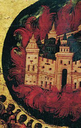 горящая Казань, фрагмент картины