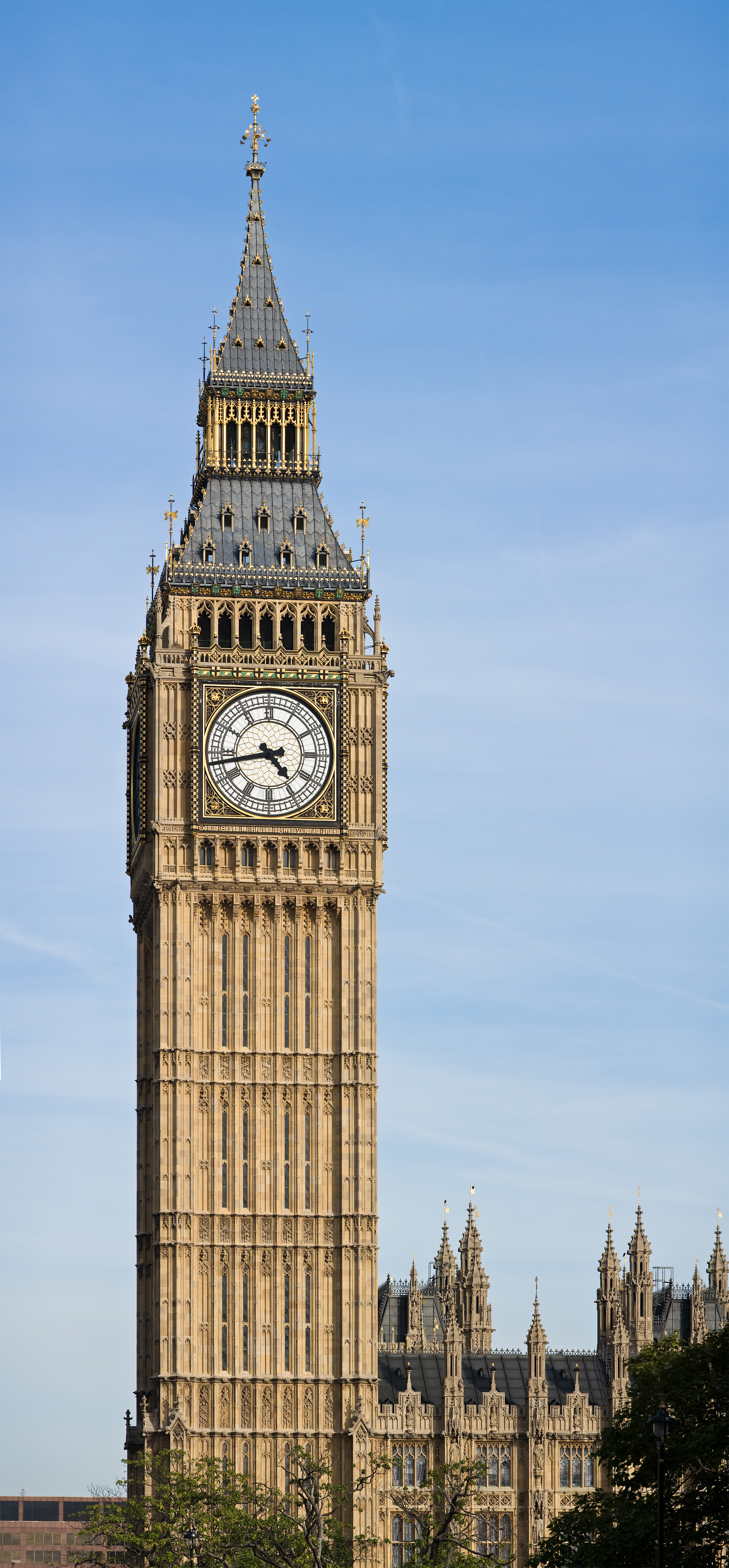 File:Clock Tower - Palace of Westminster, London ...