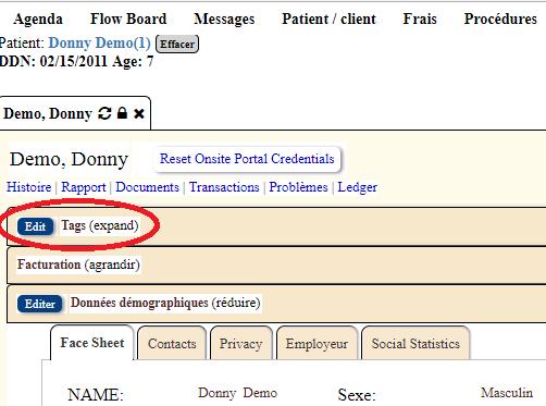Comment étiquetter un patient dans LibreHealth EHR