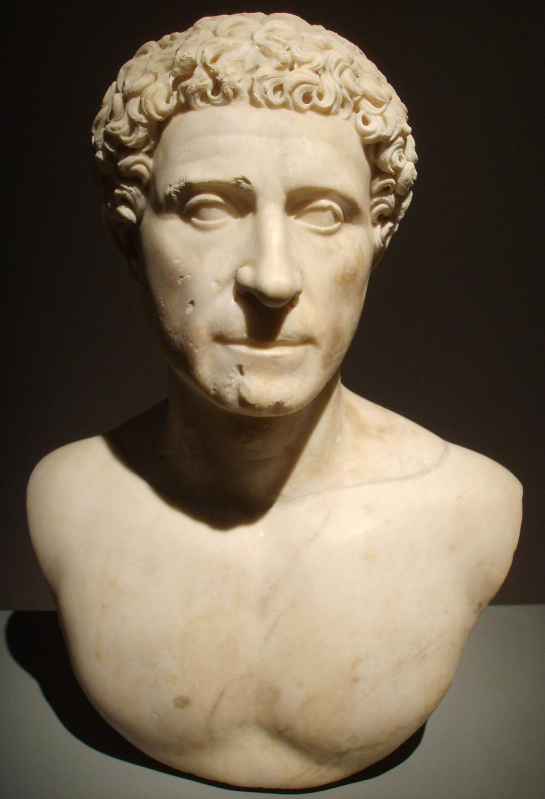 Cremona, museo civico, busto di quinto labieno partico, primi decenni del ii secolo d.c. 01.JPG