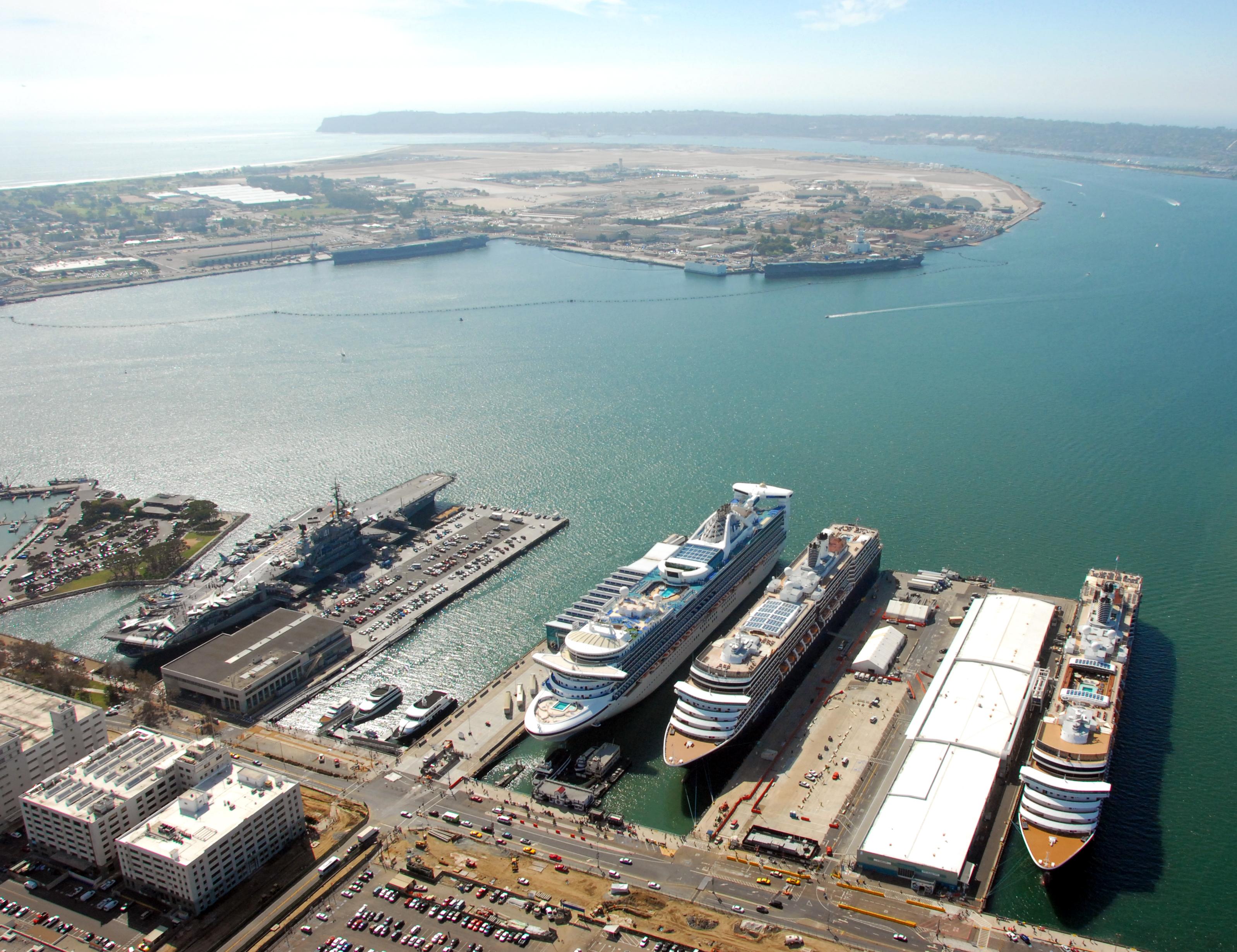FileCruise Ships Visit Port Of San Diego Jpg Wikimedia Commons - Cruise ship ports east coast