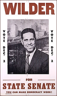Poster of Wilder campaigning for the State Senate in 1969