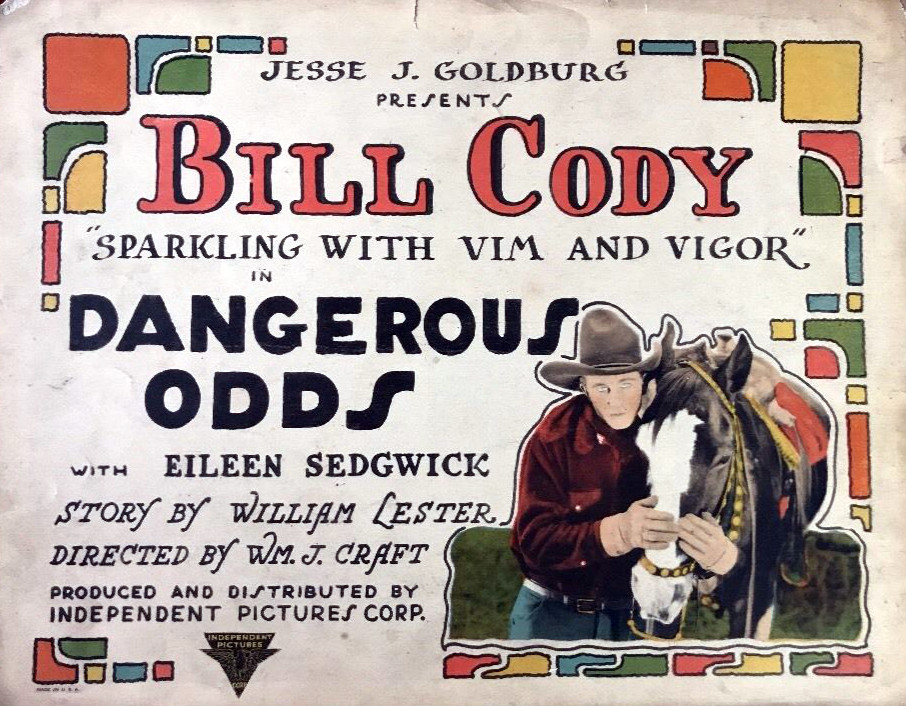 ''Dangerous Odds'' lobby card, a film directed by William James Craft (1925)