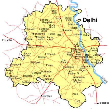 Delhi Map | Maps Delhi Map