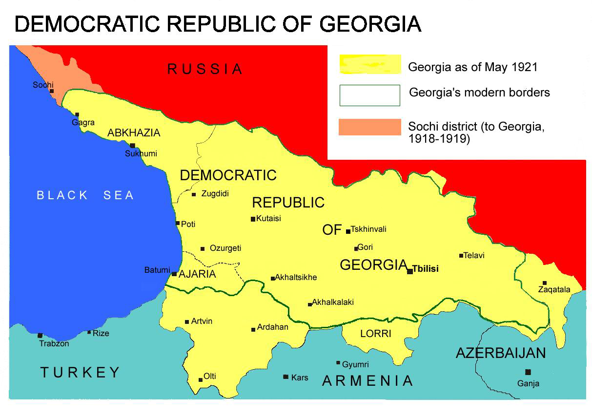 FileDemocratic Republic Of Georgia Mapjpg Wikimedia Commons - Georgia map 1918